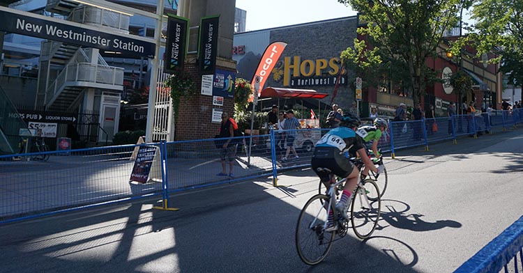 It was inspiring to watch the cyclists battle up the steep hill of 8th Street, past New Westminster skytrain station. First New Westminster Grand Prix a Huge Success