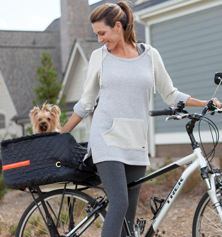 5 of the Best, Safe Dog Bike Baskets - Front, Rear, and Trailer. Snoozer Pet Rider Dog Bike Basket