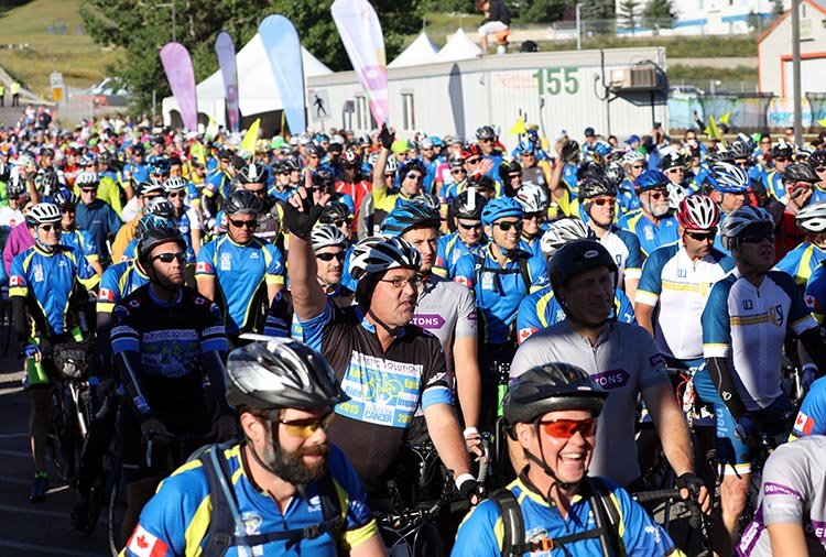 There are so many support systems and pit stops along the way, that you can push through and complete the Ride to Conquer Cancer!