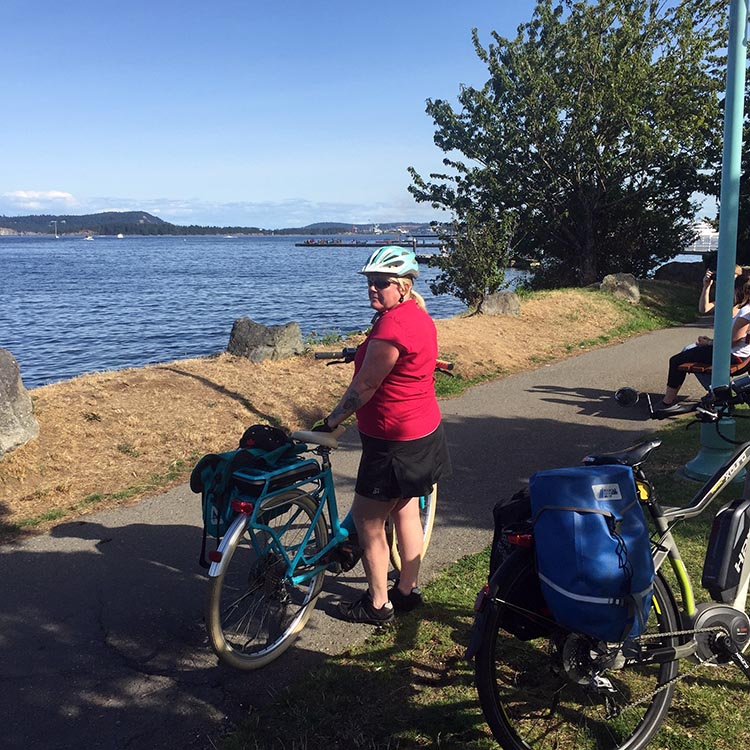 Once on the Harbourside Walkway in Nanaimo, the scenery is world class