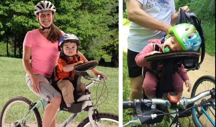 7 of the Best Child Bike Seats. The Front-Mounted WeeRide LTD Kangaroo Child Bike Seat is another highly rated front-mounted child bike seat, which is rated to carry children up to 40 pounds. 7 Best Child Bike Seats