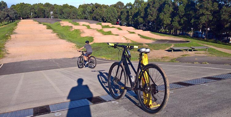 Sydney Olympic Park, Australia. There is a free BMX track in the middle of Olympic Park