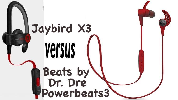 0db665630a7 Beats by Dr. Dre Powerbeats3 vs Jaybird X3 Bluetooth Sports Headphones •  Average Joe Cyclist