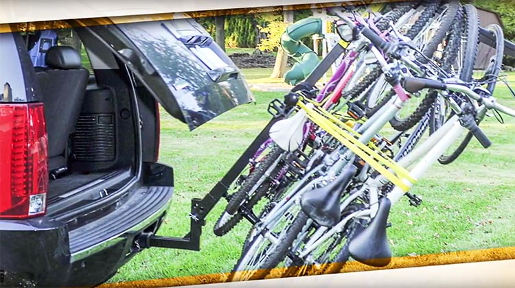 With the Totem Rack, you can transport up to 6 bikes
