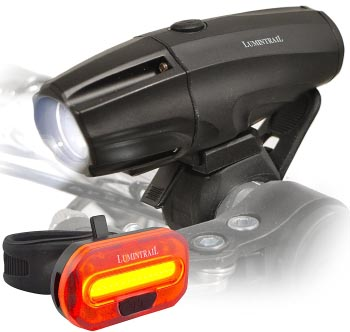 Lumintrail Headlight and Tail Light Combo – Best Bargain Bike Lights Set. 7 of the best bike lights