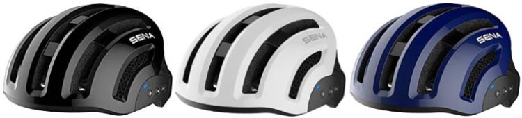 The Sena X1 Smart Cycling Helmet is available in several different colors