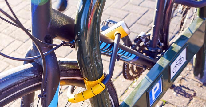How to Protect Your Bike from Being Stolen. Always lock your bike to a solid, immovable object that has a closed loop so the bike can't be lifted over the top (e.g. iron railings)