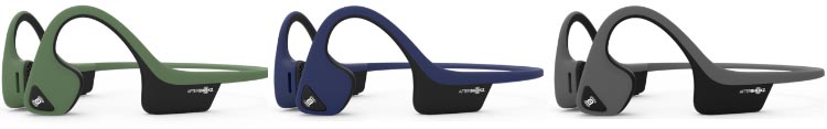 Aftershokz Introduces New Colors for Trekz Air Open Ear Headphones. Aftershokz Air is now available in three colors - Forest Green, Slate Grey, and Midnight Blue