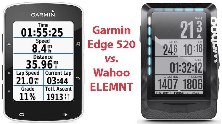 Garmin Edge 520 vs. Wahoo ELEMNT