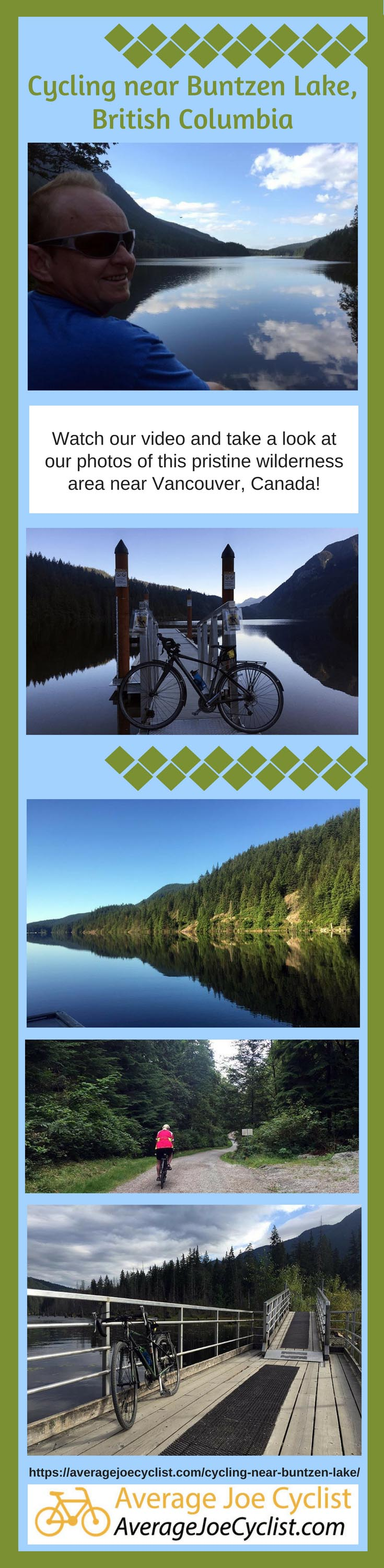 Cycling near Buntzen Lake, British Columbia, Canada