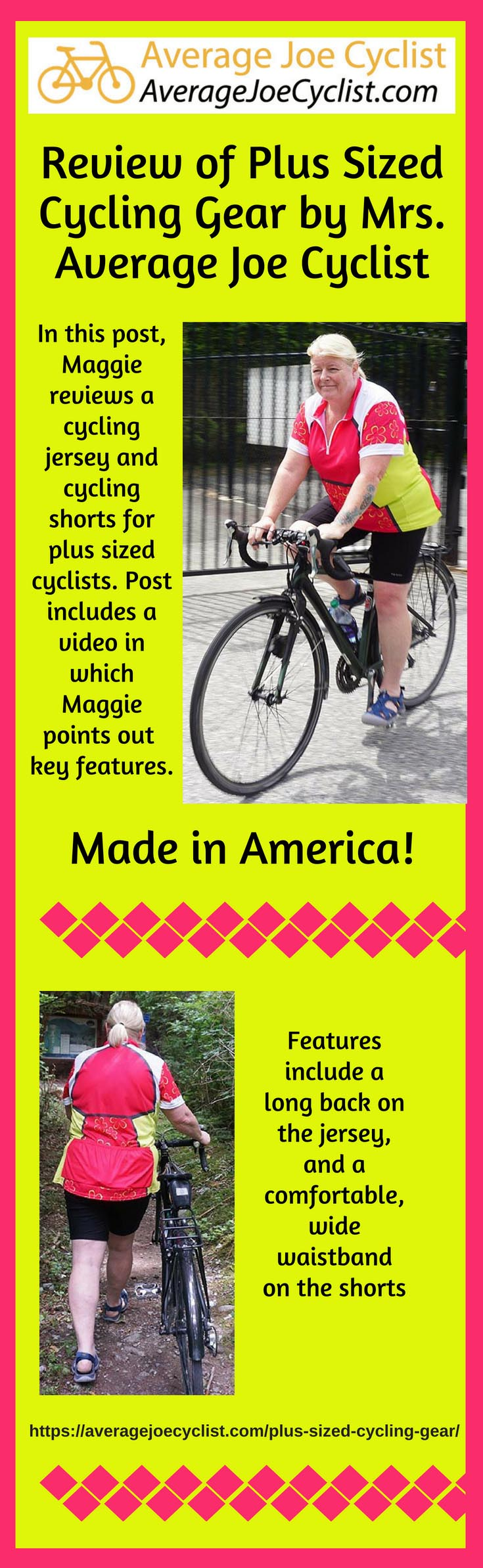 Review of Plus Sized Cycling Gear by Mrs. Average Joe Cyclist