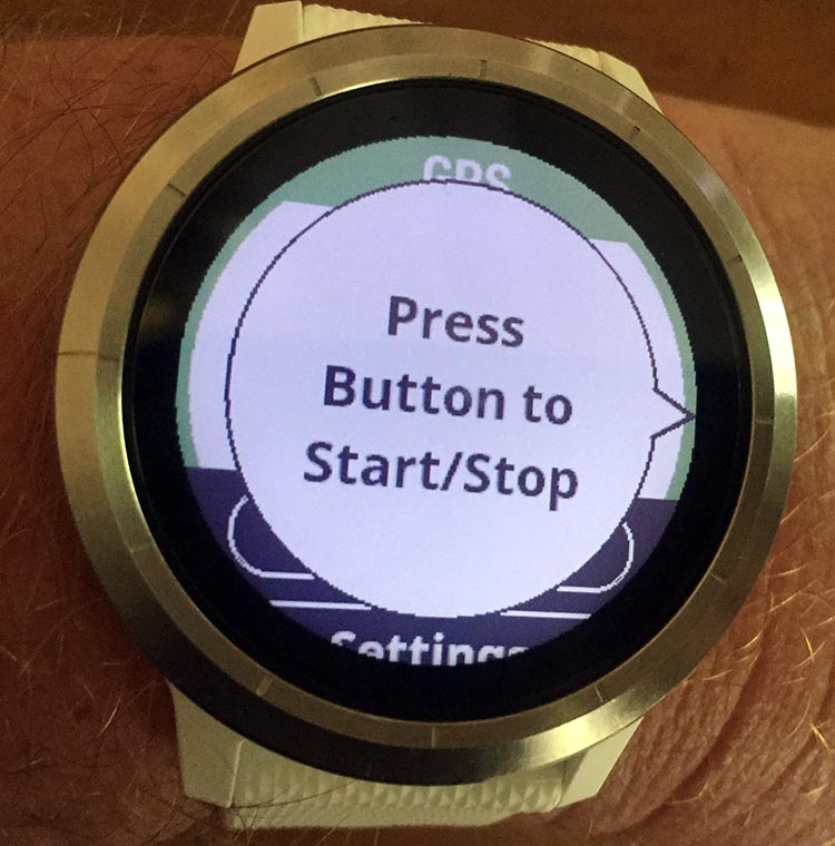 How to Record a Bike Ride with Your Garmin Vivoactive 3. Once it has found the signal, the Garmin watch will prompt you to press the button to start recording your bike ride