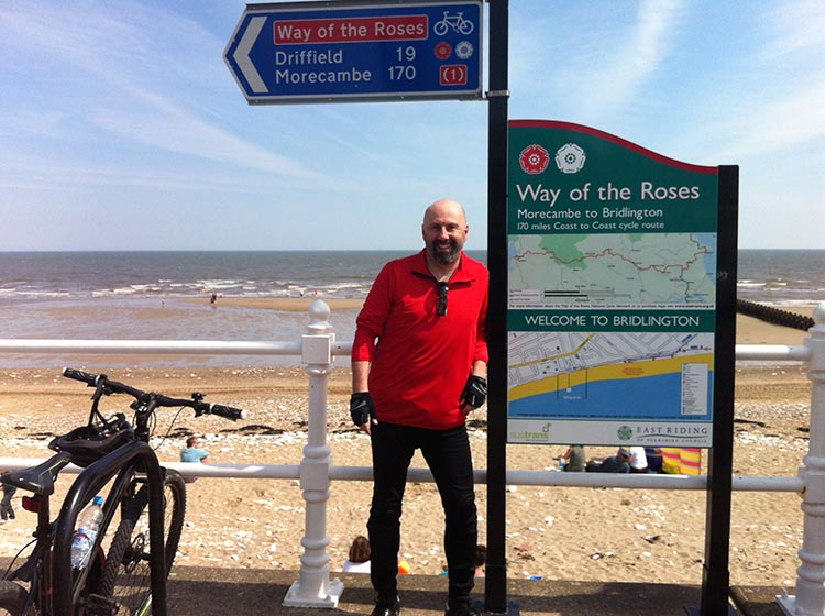 The Way of the Roses – Cycling Coast to Coast Across England made it all the way