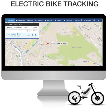 Ebike Trackers - Protect Your Ebike from Thieves. Ebike trackers allow you to quickly locate your bike