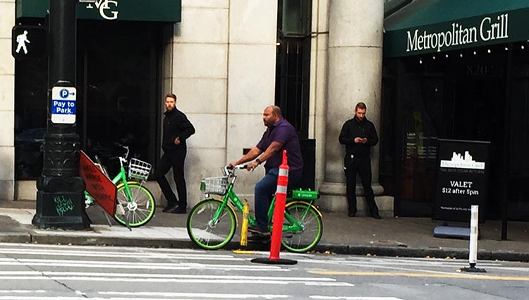 Lime Bikes and Scooters for Shared Transport Options. We constantly saw people riding Lime bikes in Seattle. Every bike is one less car!