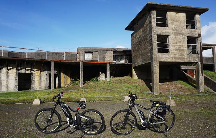 Our bikes in the Fort Stevens historic area