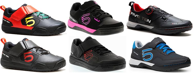 Five Ten cycling shoes come in a range of fun colors. Five Ten Cycling Shoes for Urban and Mountain Biking