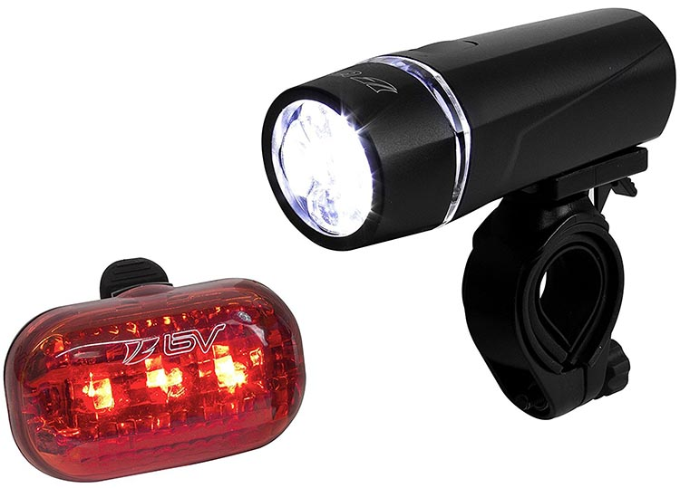 Smoking Hot Year-end Cycling Deals. The BV bicycle light set features a 5 LED head light, plus a 3 LED taillight
