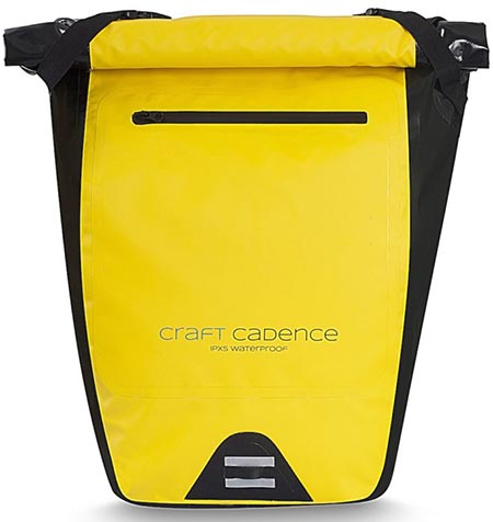Craft Cadence Cycling Backpack Review. Water resistant zips keep your stuff dry