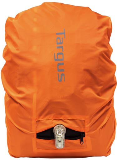 When it rains, the rain cover is a nice bright orange, so this will certainly help to keep you visible in the rain.