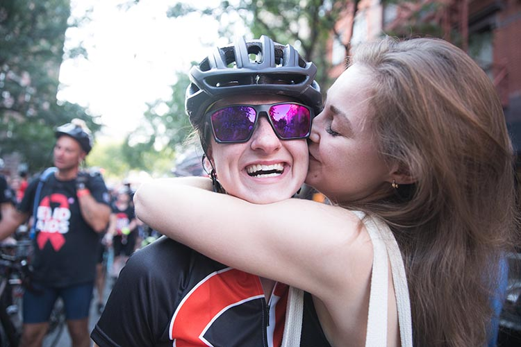 There's nothing like finishing a tough charity bike ride! Photo by the IS Collective