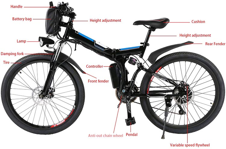Best Cheap E-bikes. This mountain ebike gets great reviews, and is rated to carry riders up to 300 pounds
