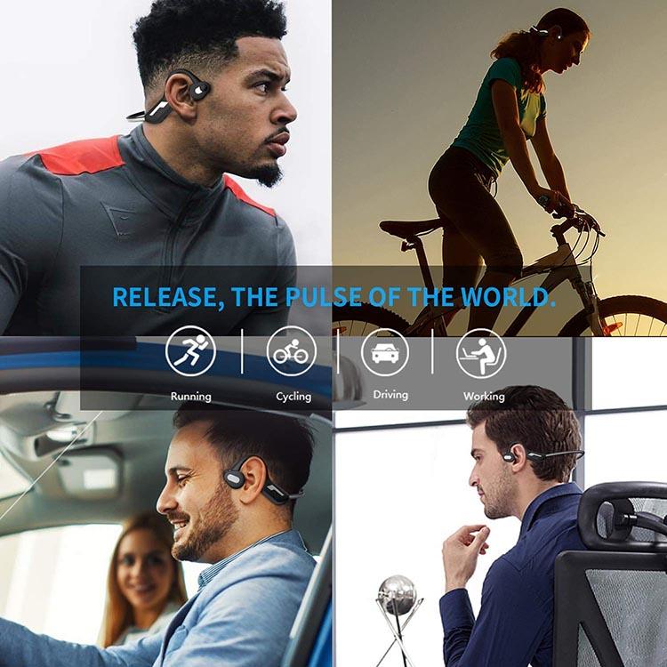 WGP Open Ear Wireless Bone Conduction Headphones Bone Conduction Headphones are ideal for all kinds of athletes