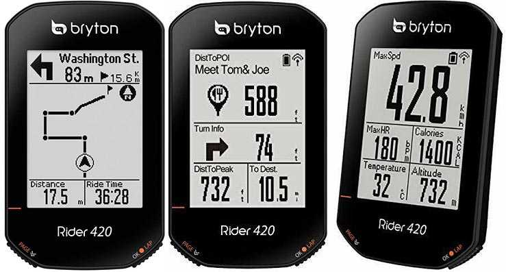 Best Budget Bike Computer with multiple data fields, full sensor connectivity, and turn-by-turn navigation