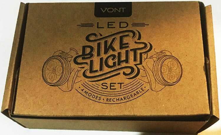Vont bike light set: We really like the packaging of these bike lights