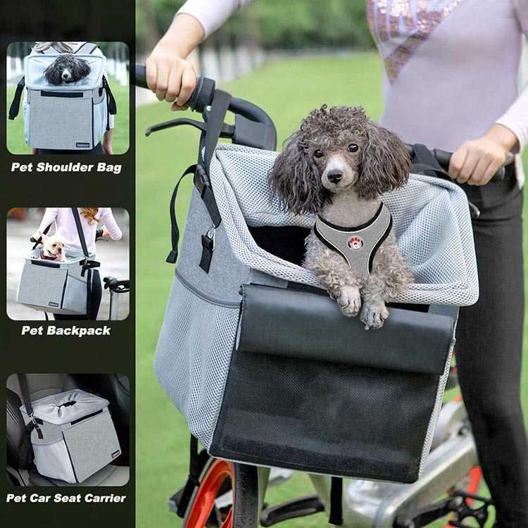 The BarkBay Carrier is a true multi-use dog bike basket