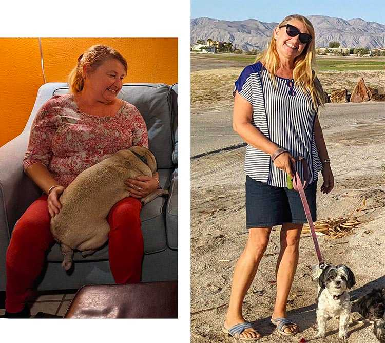 Our friend Melinda's Before and After intermittent fasting photos