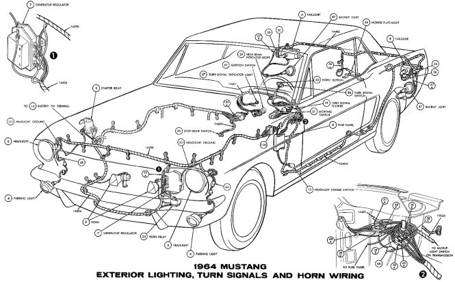 1970 ford mustang mercury cougar original wiring diagram