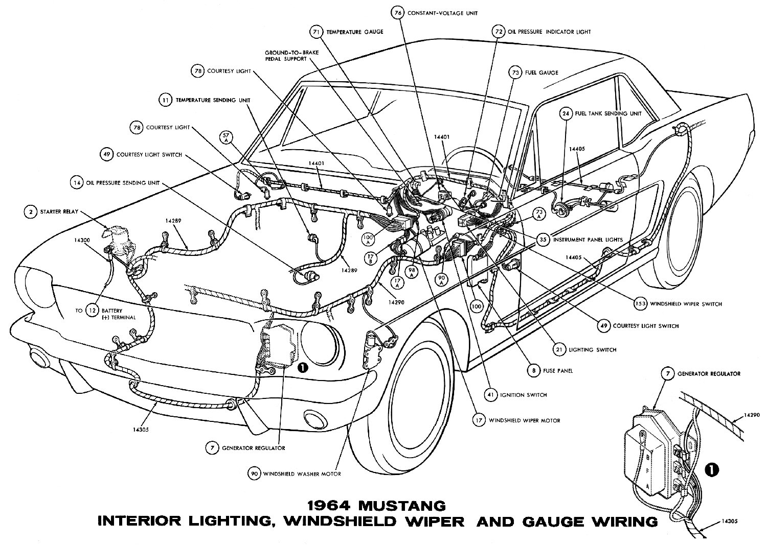 Interior Car Parts Diagram