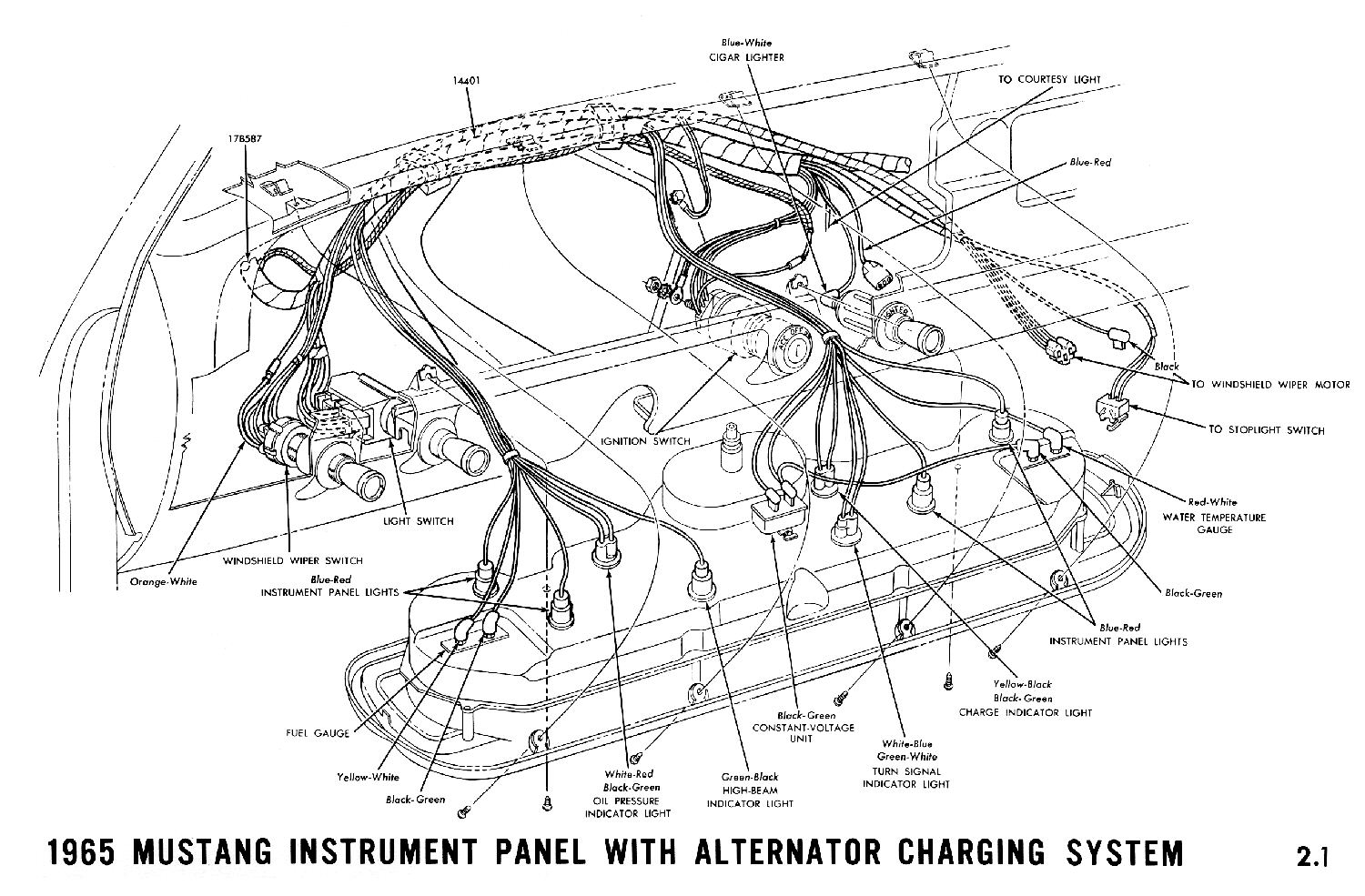 66 Mustang Gauges Wiring Connections