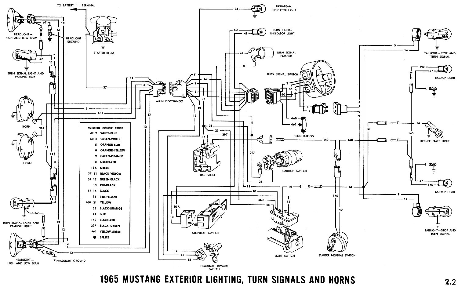 66 Mustang Tail Light Wiring Diagram