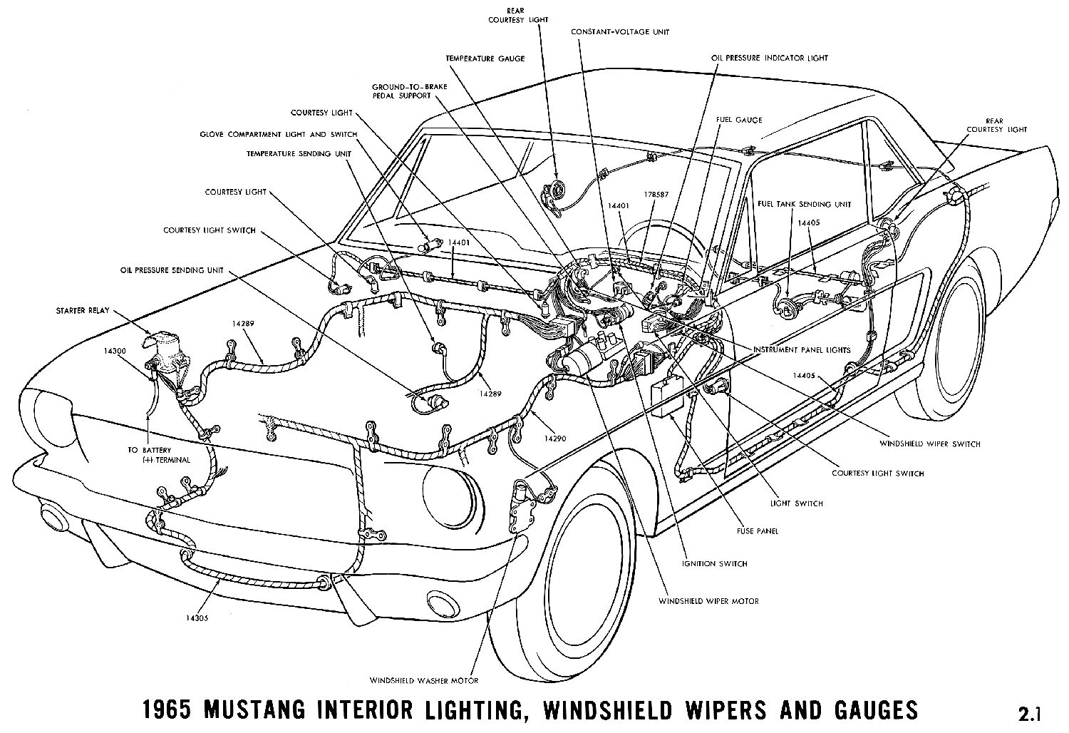 65 Mustang Washer Diagram