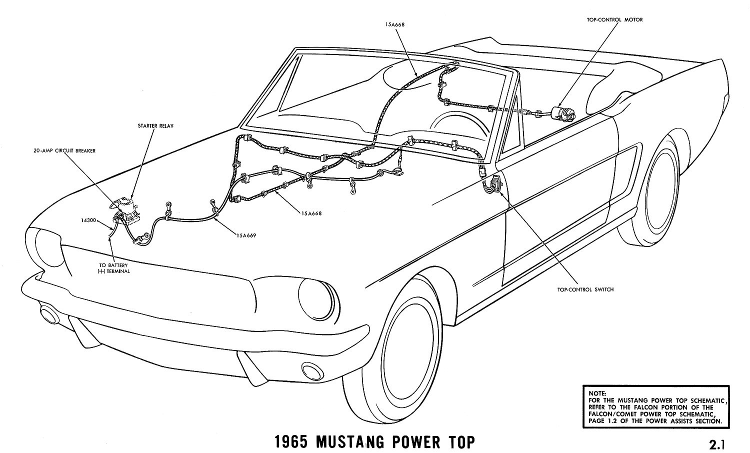 Ford Mustang Convertible Top Diagrams
