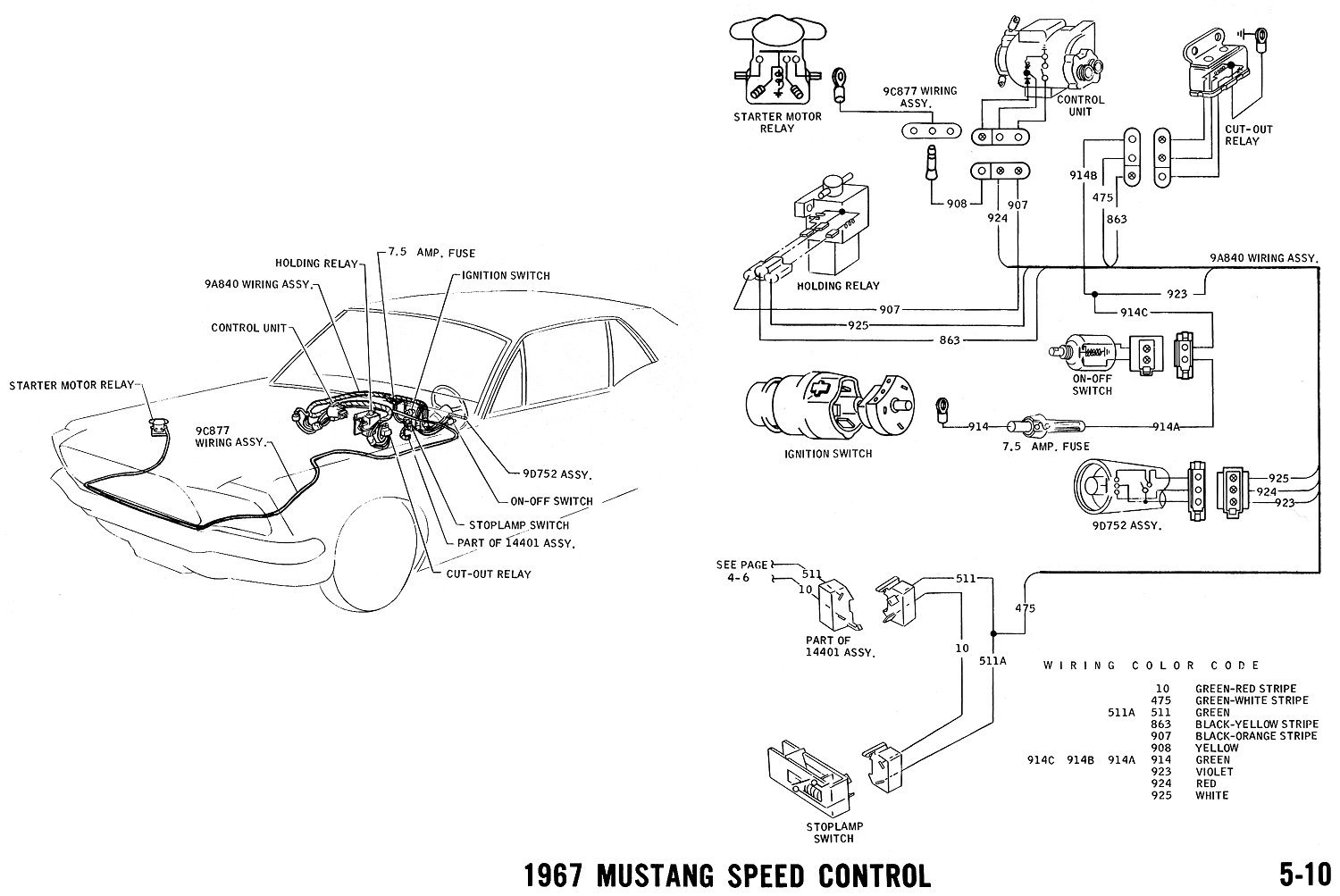 Ford Mustang Wiring Schematic And Vacuum Diagrams