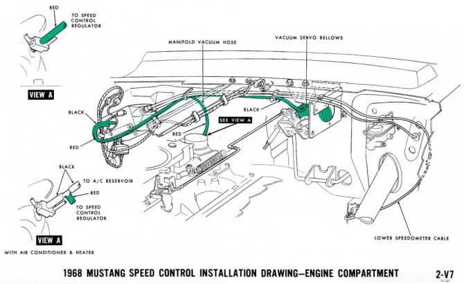 1968 mustang wiring diagrams and vacuum schematics  average