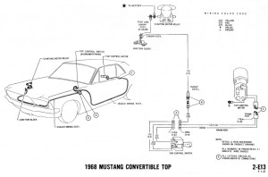 67 convertible top wire route and clips  Vintage Mustang
