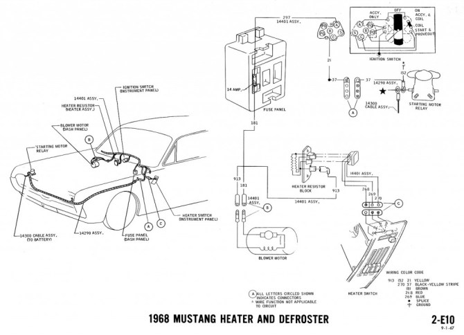 1970 ford mustang heater wiring diagram ford 7 wire trailer