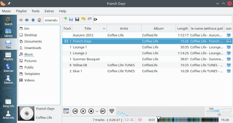 OpenSUSE installing Clementine audio player