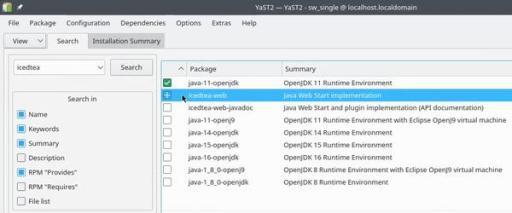 OpenSUSE installing Java programming language