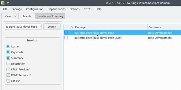 OpenSUSE installing build essentials