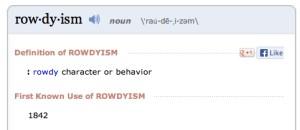 rowdyism copy