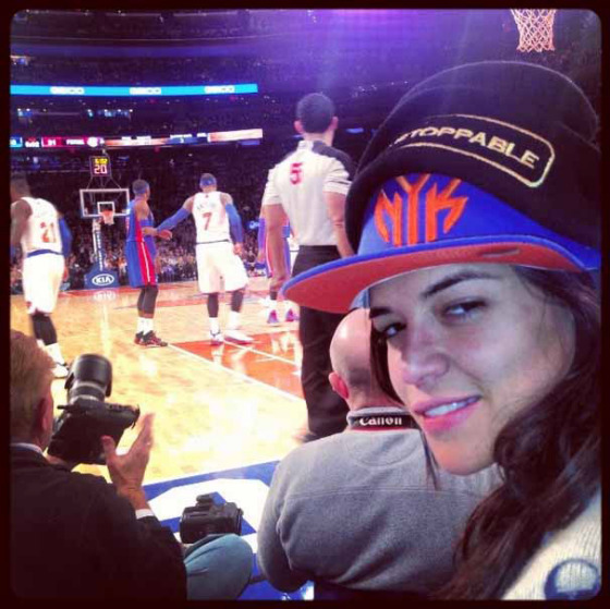 cara d knicks game instagram.jpg