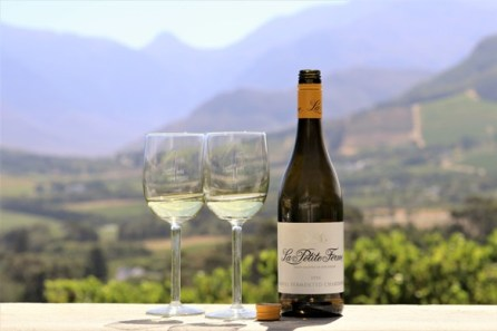 La Petite Ferme Chardonnay and view LR