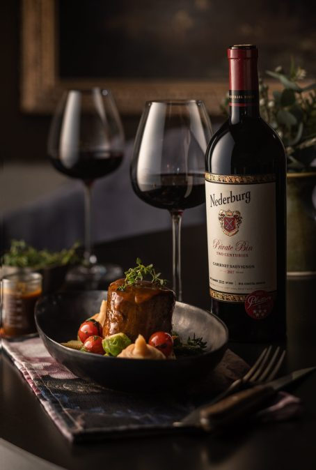 Oven Roasted Beef Fillet with Nederburg Private Bin Two Centuries Cabernet Sauvignon 2017