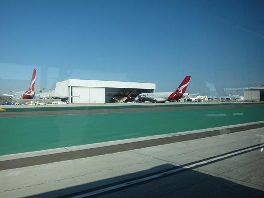 Quantas A380 at LAX