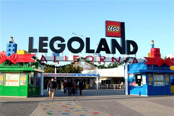 Legoland California Maingate with Christmas Decorations